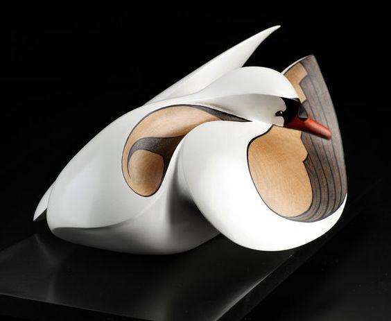 Mute Swan by Rex Homan, Māori artist (KRX120103):