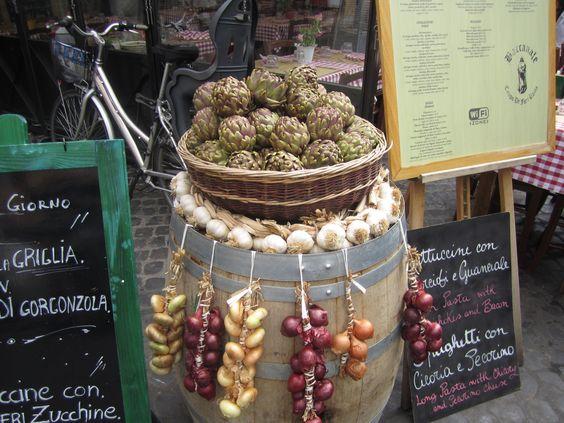 Beautiful artichokes in Rome.