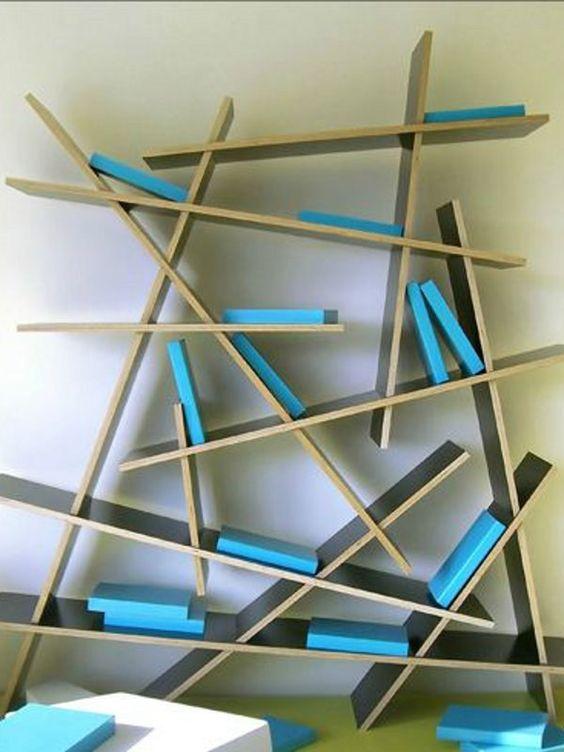 Plywood Bookcase CRASH by Sixinch | Design Rainer Mutsch (2005)