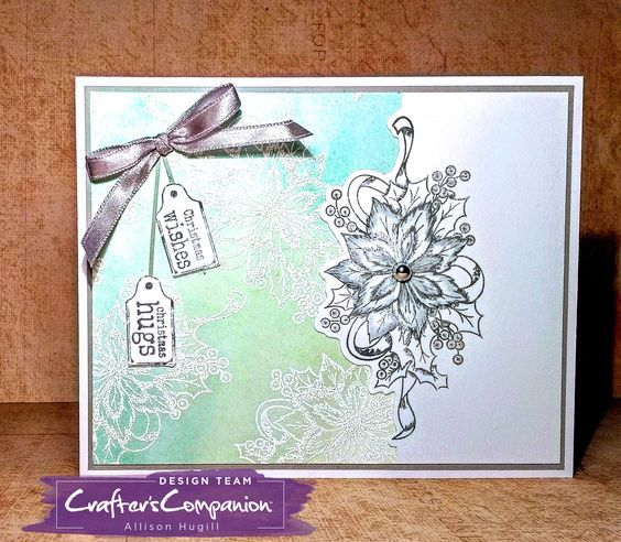 Holly Flower Tree NEW Crafter/'s Companion Clear Stamp /& Metal Die Set