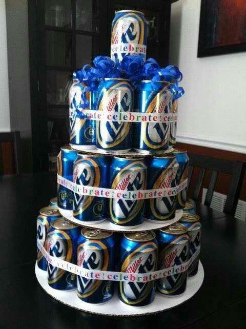 Someone I know might need a cake like this...  21st birthday