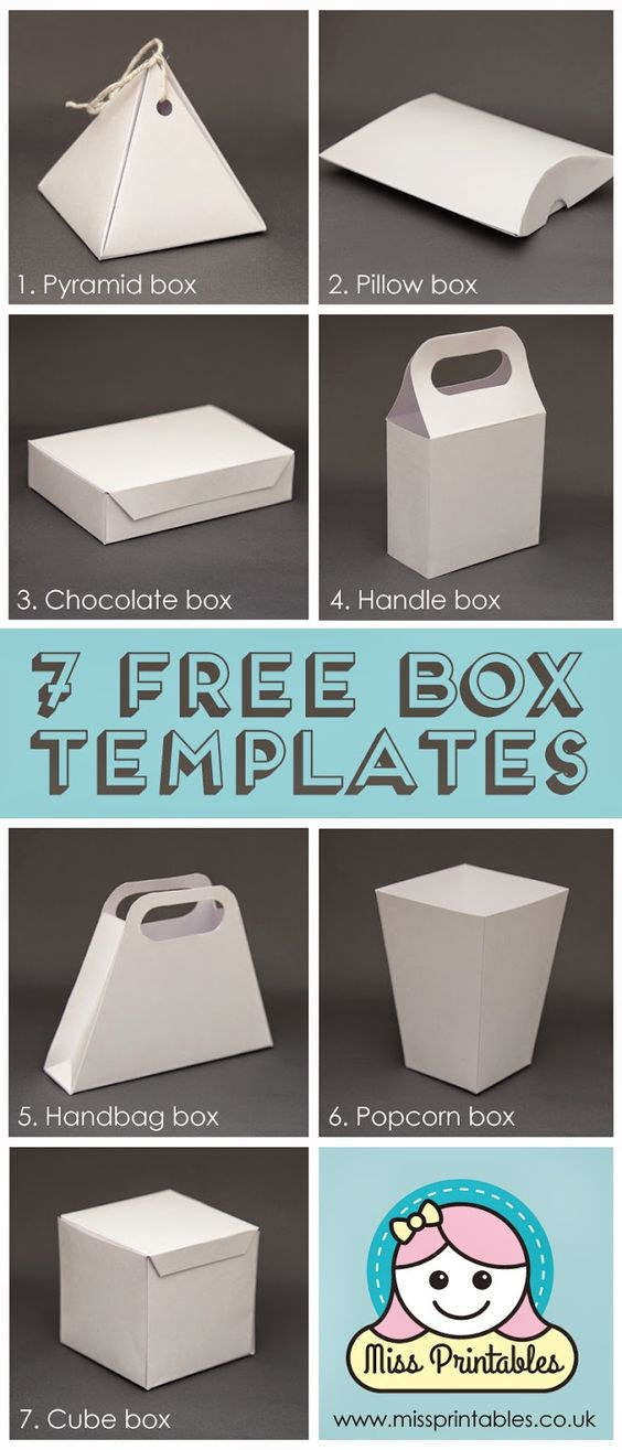 Blank box templates - freebie! have fun making these boxes and decorating them yourselves with this free printable file.: