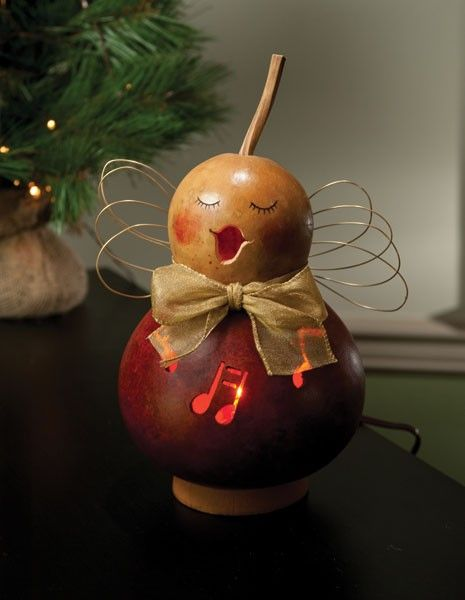 Gourd decorating for christmas holiday decorations