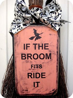 HARMONizing: Witch Broom Door Hanger