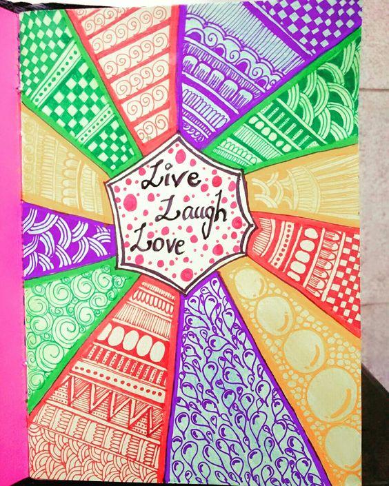 #doodleart #multicolour #live #laugh #love #10