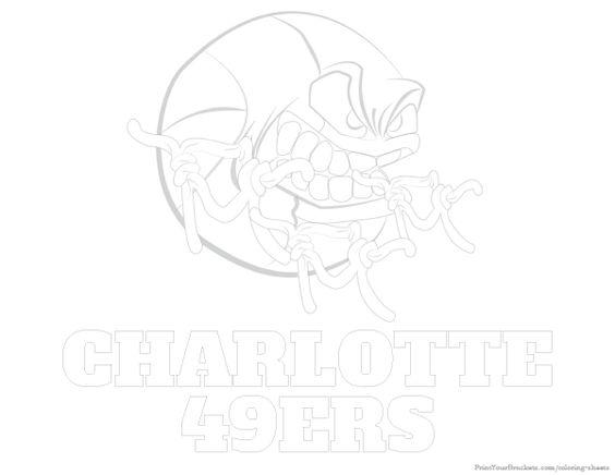 Charlotte 49ers Basketball Coloring Sheet - Printable