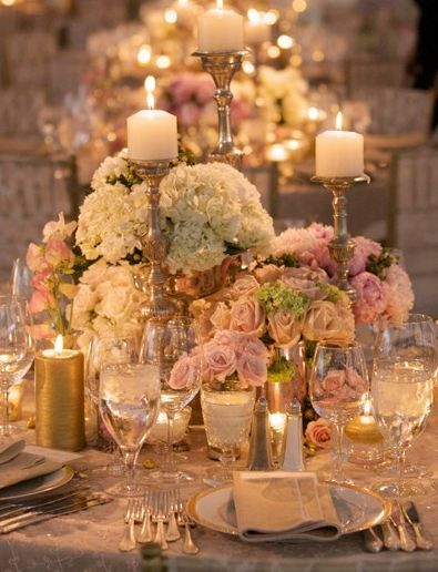50 fabulous and breathtaking wedding centerpieces for Romantic wedding reception ideas