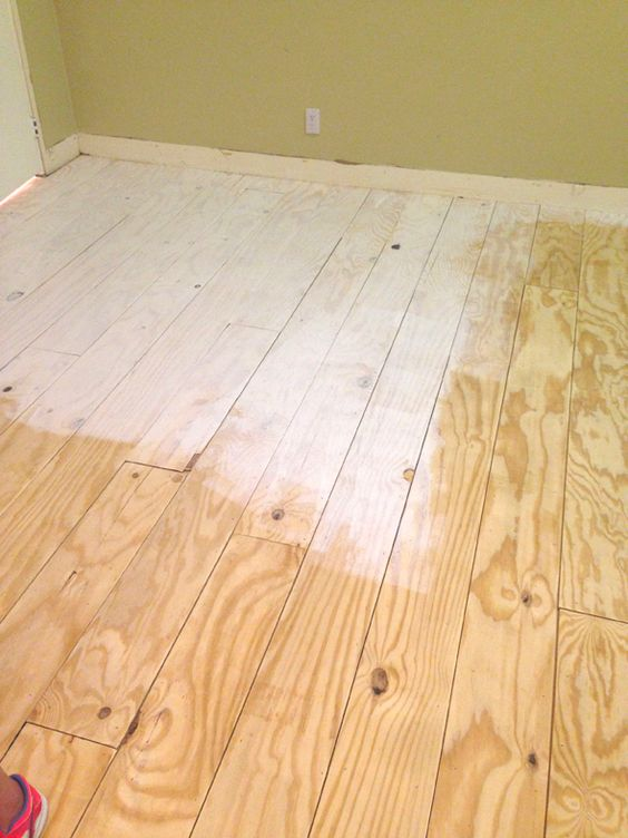 Little Green Notebook Diy Wide Plank Floors Made From