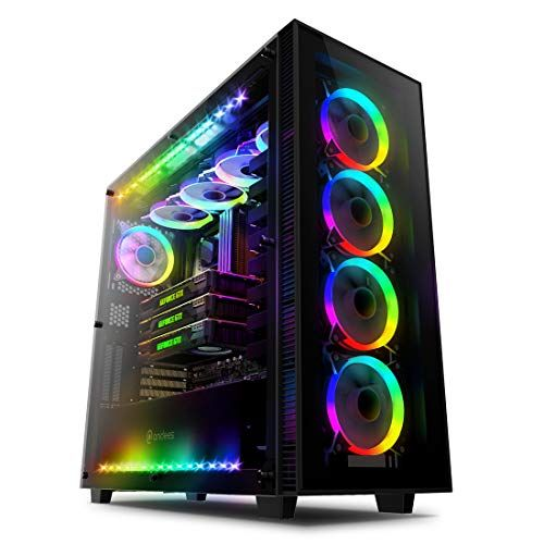 Anidees Ai Crystal Pm Mid Tower Liquid Cooling Gaming Atx Case W