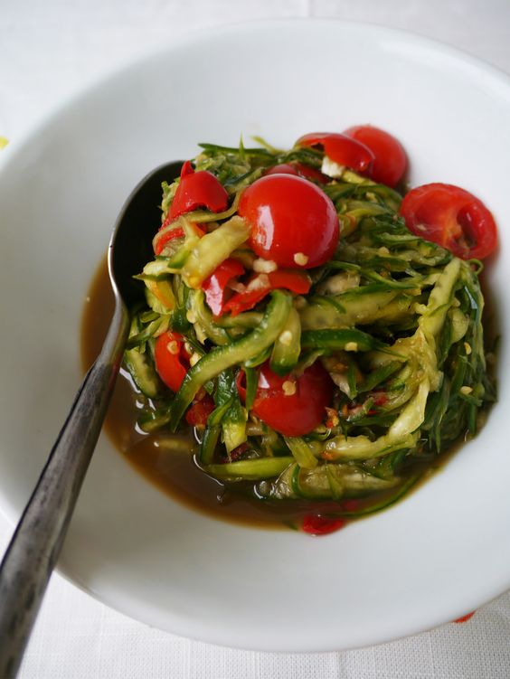 Tum Mark Dang (lao spicy cucumber salad)