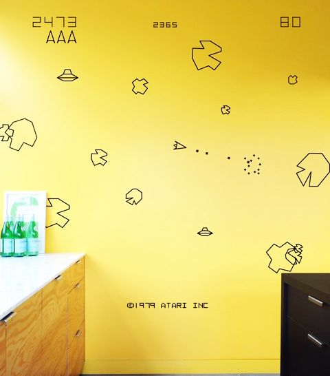 Asteroid wall stickers - out of this world!