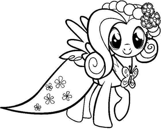 My Little Pony Coloring Pages Dress : My little pony coloring pages rarity in dress
