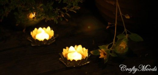 Make Lotus Candle Holders in 5 Minutes!