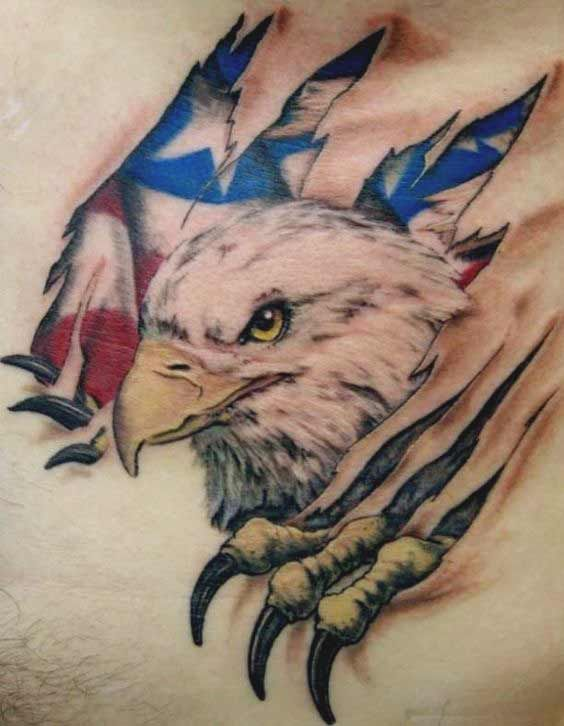 50 Amazing Perfectly Place Eagle Tattoos Designs With Meaning Eagle Tattoos Bald Eagle Tattoos Eagle Tattoo