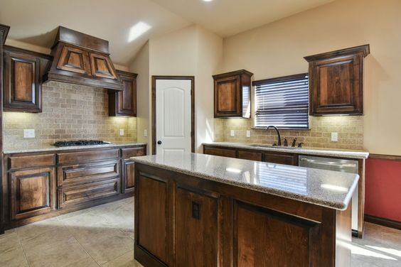 Superb Craftsman Kitchen With Giallo Napoleone Granite Countertop, Arizona,  Kendall Raised Panel Cabinetry