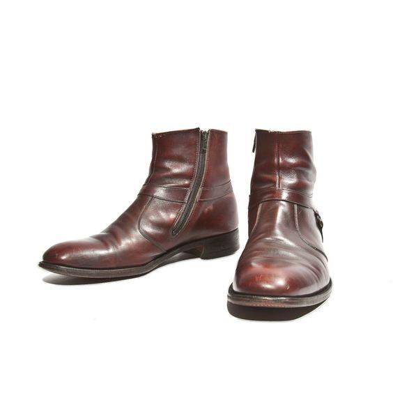 Cordovan Ankle Boots Zipper Sides Beatle Boot by Knapp's Men Shoe ...
