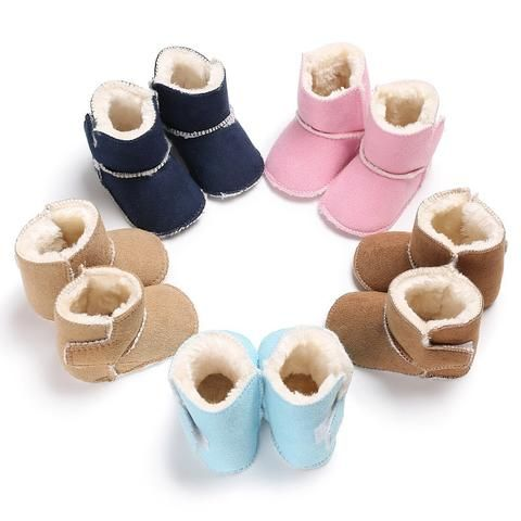 Infant Baby Boys Soft Sole Booties Snow Boots Toddler Newborn Crib Shoes 0-18M