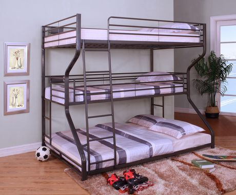 Topline Home Furnishings 3 In 1 Bunk Bed Walmart Canada Triple Bed Bunk Beds For Girls Room Bunk Bed Designs