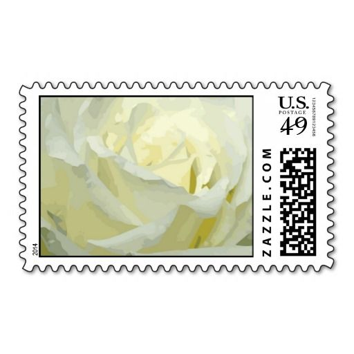 All Occasion Floral rose White Postage Stamp