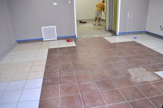 How to paint paint tiles and google on pinterest for Can you paint floor tiles
