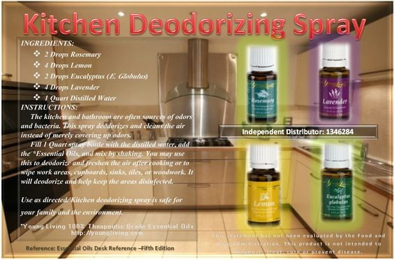 Young Living Essential Oils: Kitchen Deodorizing Spray....My Member Number: 1458528. or my website.... http://tammy.marketingscents.com/