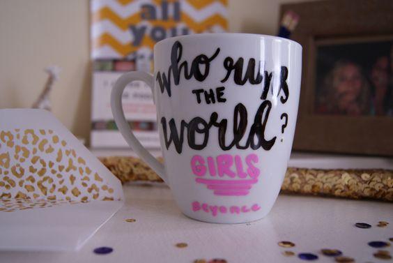 Who Runs The World? Girls. #etsy #mug #Beyonce