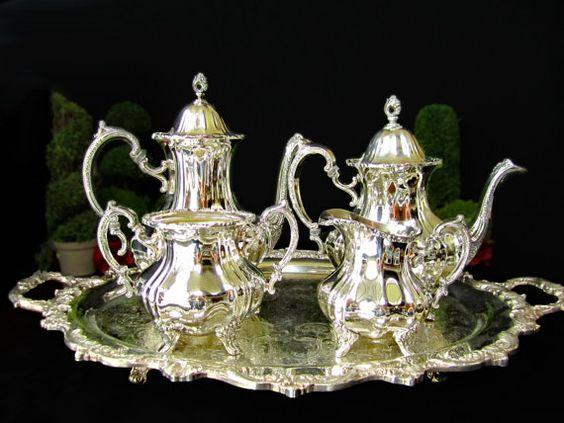 Vintage Silver plate Coffee Tea Service Set by InventifDesigns