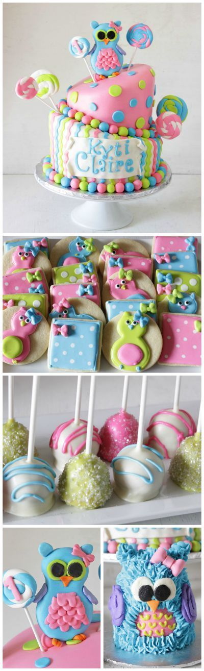 1st Birthday Owl Party with Cake Pops and Cookies