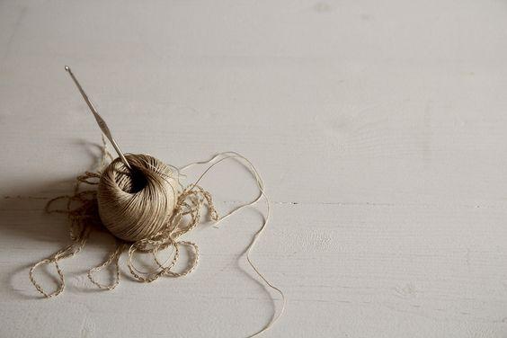 old shoemaker's linen thread + crochet