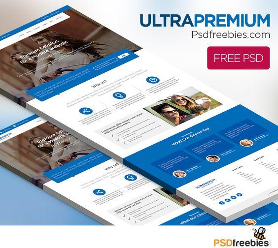 Ultra Premium Corporate Website Free PSD Company profile - free business profile template