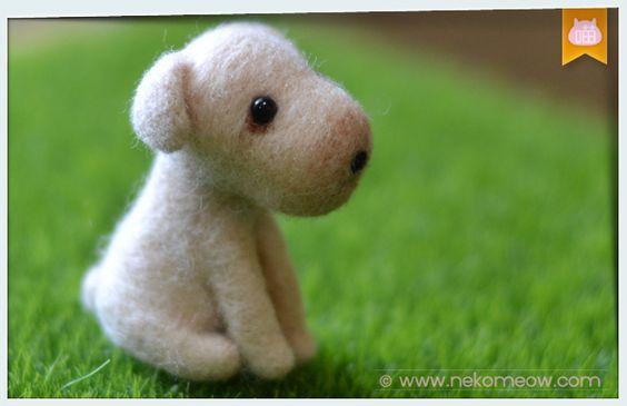 Wool felt puppy ・ 羊毛氈小狗 ・ 羊毛フェルト子犬♥ | nekomeow little corner