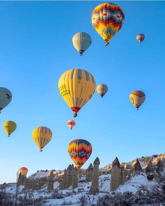 "Explorer Cave Hotel/Cappadocia on Instagram: ""Good morning from Cappadocia 🌄  Günaydın ☀️ ✉️ info@explorercavehotel.com 📍Location #goreme #cappadocia #turkey .📸 @cappadociapers . . . .…"""