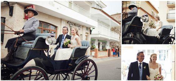 La entrada en la iglesia de Almudena, una de nuestras novias! www.teresapalazuelo.com/BLOG/la-boda-de-almudena/