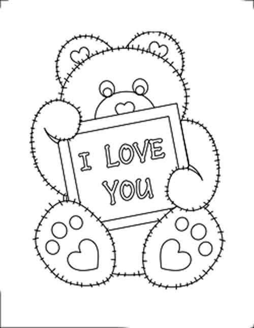 I Love You Coloring Pages Pdf : Valentine hearts coloring sheet s dibujos para pintar y