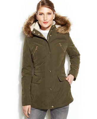 Nautica Faux-Fur-Trim Hooded Anorak Coat | Stuff to Buy