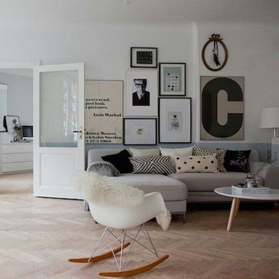 Salon cocooning tableau scandinave home sweet home for Salon cocooning
