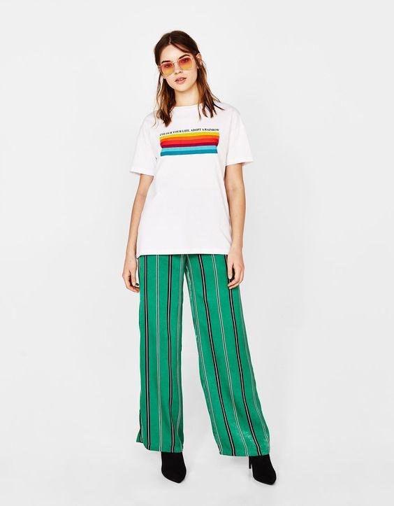 Camiseta estampada con algodón orgánico