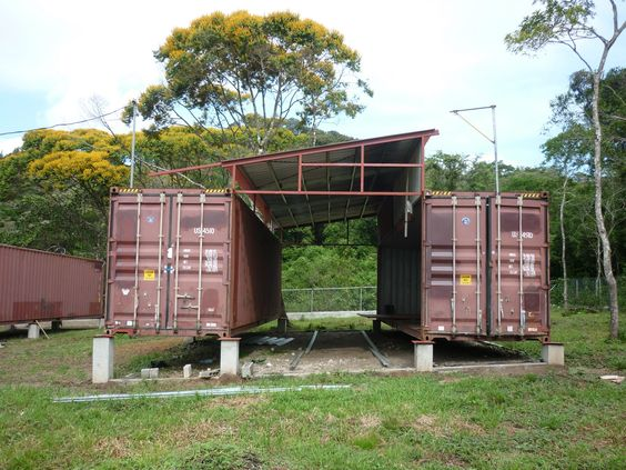 Steel Containers Homes shipping container homes, small home living, isbus, corten steel