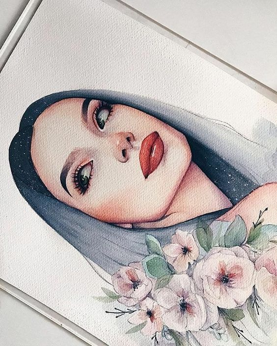 Watercolor arts sur Instagram : 😍 Lovely and cute artworks ✨ Swipe to see more 👉 😃 Sketches or paintings? 💕 • Artist: @amykour • For a chance to be featured ⭐ Use…
