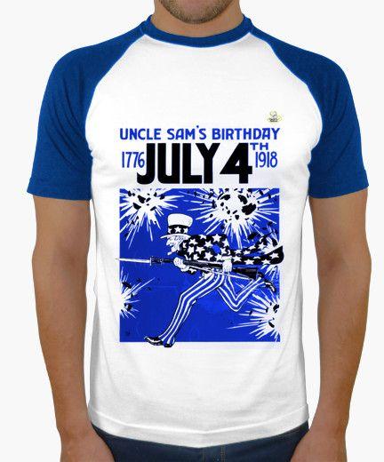 Camiseta July 4 Camiseta hombre, estilo béisbol  19,90 € - ¡Envío gratis a partir de 3 artículos!