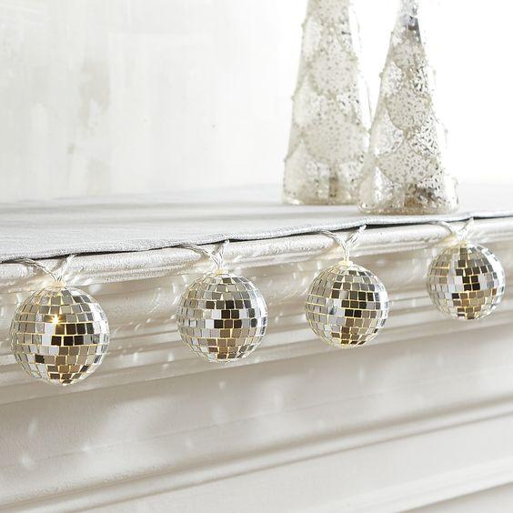 Mirrored Ball Led String Lights