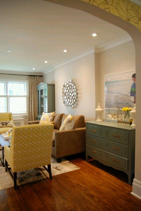 Teal And Mustard Yellow Home Decor Family Room