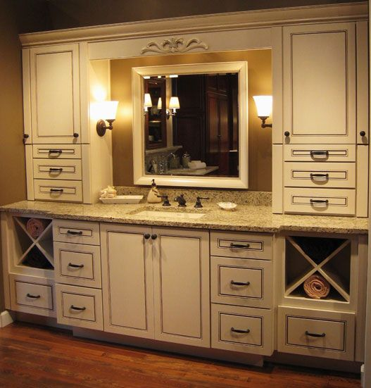 Cabinets bathroom and freedom on pinterest Kraftmaid bathroom cabinets