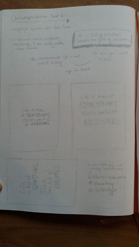 fase 6: schetsen