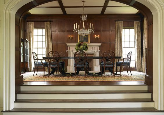 I love that you have to go up steps to the dining room