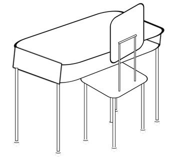 Desk chairs, Student desks and Clip art on Pinterest