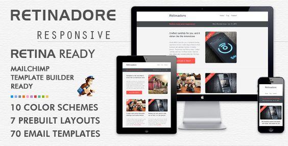 Retinadore - Responsive Email Newsletter Template  Retinadore has - responsive email template
