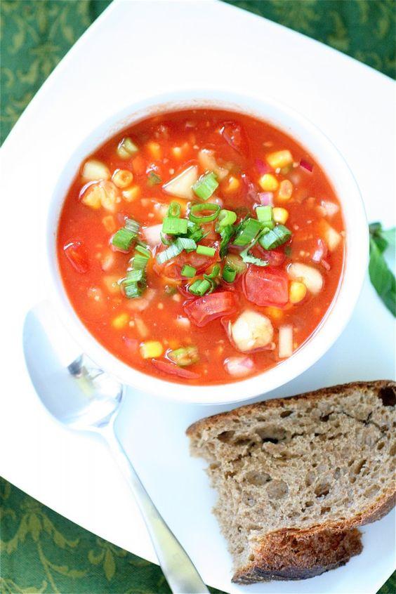 Spicy Summer Gazpacho - Lunch