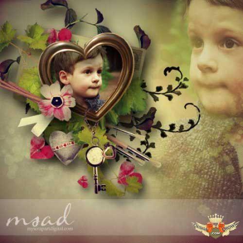 Scrap png backgrounds for kids photo album design | ♥ Freebies ...