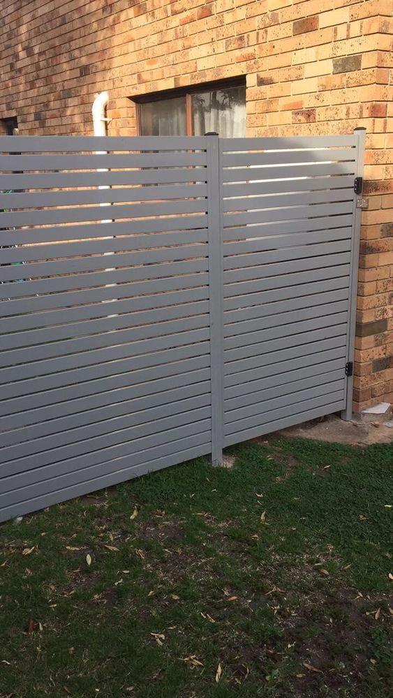 Powder Coated 65x16 Aluminium Slats Fencing Diy Screw System Grey Black White In Home Garden Yard Garden Outdoor Living Pools Esterno Veranda Parete